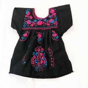 Mexican embroidered baby dress